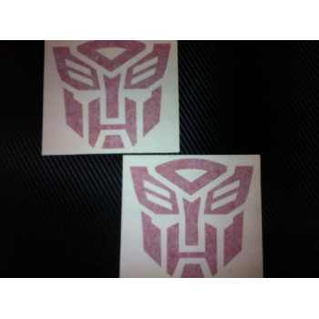 1 Pair of Transformers Autobots Racing Decal Sticker (New) Red Size 5''x4.7''