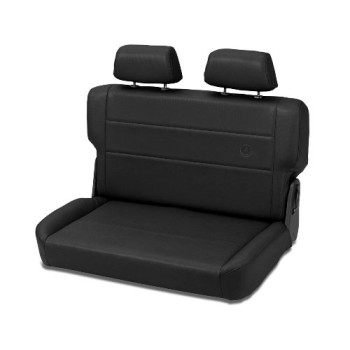 Bestop 39440-15 TrailMax II Fold and Tumble Black Denim All-Vinyl Rear Bench Seat for 55-95 CJ5, CJ7 and Wrangler YJ