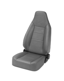 Bestop 39434-09 TrailMax II Sport Charcoal Front High Back All-Vinyl Single Jeep Seat for 76-06 Jeep CJ and Wrangler