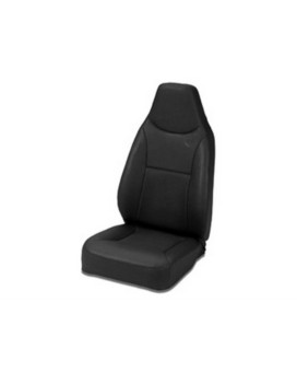 Bestop 39436-01 TrailMax II Black Crush Front High Back All-Vinyl Fixed-back Single Jeep Seat for 76-06 Jeep CJ and Wrangler