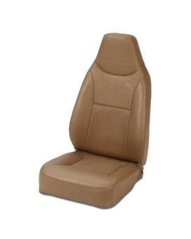Bestop 39436-37 TrailMax II Spice Front High Back Vinyl All-Vinyl Single Jeep Seat for 76-06 Jeep CJ and Wrangler