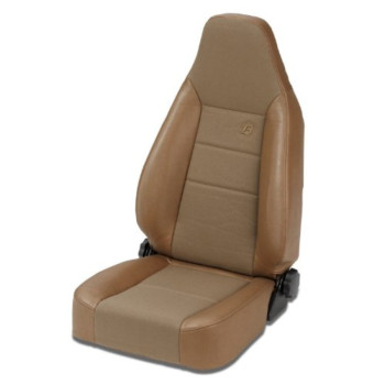 Bestop 39438-37 TrailMax II Sport Spice High Back Vinyl with Fabric Insert Single Jeep Seat for 76-06 Jeep CJ and Wrangler