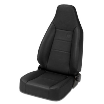 Bestop 39434-15 TrailMax II Sport Black Denim Front High Back All-Vinyl Single Jeep Seat for 76-06 Jeep CJ and Wrangler