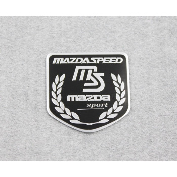 Side Rear Decal Mazdaspeed Emblem Badge Sticker For Mazda Racing Sport Black