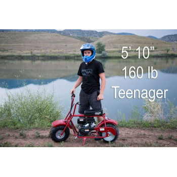 Coleman Powersports 98cc/3.0HP CT100U Gas Powered Mini Trail Bike Scooter for Adults and Kids (13+)