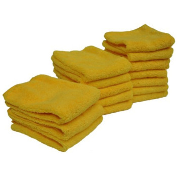 Eurow Microfiber 14in x 17in 300 GSM Cleaning Towels High Pile 15-Pack