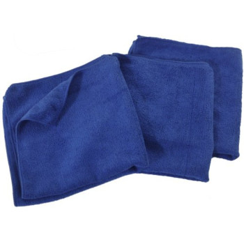 Eurow Microfiber 16 x 16in 300 GSM Cleaning Towels 3-Pack Blue