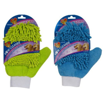 Paw Cleaner-Microfiber and Chenille Grooming Glove (Color May Vary)