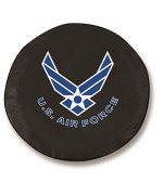 Holland Bar Stool U.S. Air Force Tire Cover In Black - 29 Inch X 8 Inch