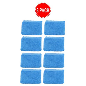 Real Clean MIC29208 Premium Grade Microfiber Applicator Sponges Chemical and Water Safe Material (Pack of 8)