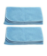 "Real Clean Professional Grade Premium Ultra-Microfiber Extra Thirsty Big Blue Automotive Drying Towel 25""x 36"" Chemical and Water Safe Material (2 Pack)"