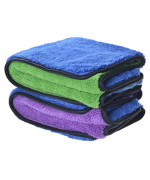 720gsm Ultra Thick Plush Microfiber Car Cleaning Towels Buffing Cloths Super Absorbent Drying Auto Datailing Towel (16