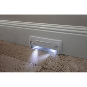 VacPort with LED Lighting (Black) - No install kit. Replacement part for VacPan and VacuSweep. Made in USA. Lifetime warranty. Unbreakable.