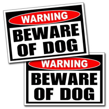 Beware of Dog Warning Danger Sticker Vinyl Decal Dogs