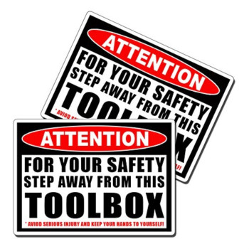 Step Away From My Toolbox Warning Vinyl Decal Sticker Tool Box