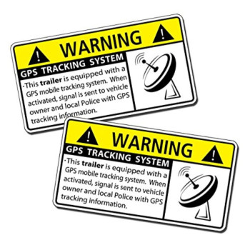 GPS Trailer Alarm Security Caution Warning Decal Sticker