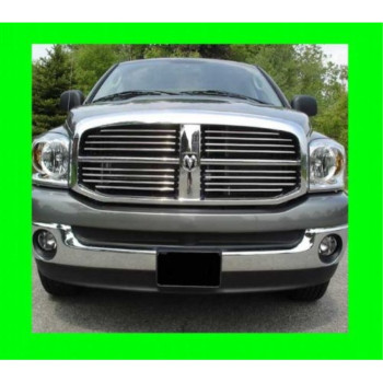 2005-2010 DODGE DAKOTA CHROME GRILLE GRILL KIT 2006 2007 2008 2009 05 06 07 08 09 10 QUAD CAB CLUB SLT ST LARAMIE EXT SXT LONE BIG HORN BIGHORN