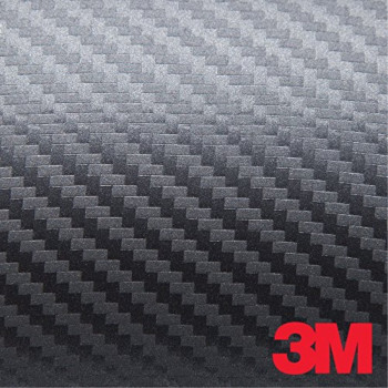 3M Scotchprint 1080 Carbon Fiber Vinyl Flex Wrap Anthracite CF201 60