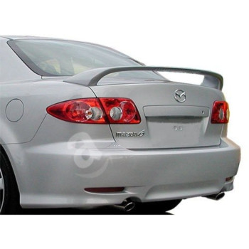 03-08 Mazda 6 4dr Factory Style Spoiler W/ LED - Painted or Primed : A2N Hi Performance White