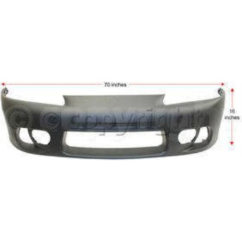 ECLIPSE 97-99 FRONT BUMPER COVER, Primed, with Fog Lamp Holes and Side Marker...