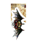 Agorables - Skull Helmet with Bat Wings - Sticker / Decal