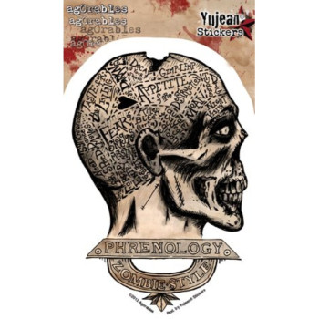Agorables - Zombie Phrenology - Sticker / Decal