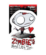 Agorables - Zombies Need Love Too - Sticker / Decal