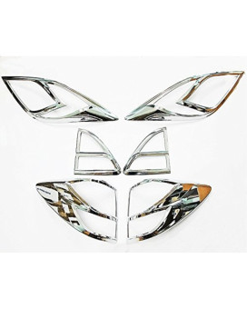 Chrome Cover Surround Front Head Light Rear Tail Light Lamp Trim Set Fits For mazda Bt-50 Pro 2012 2013