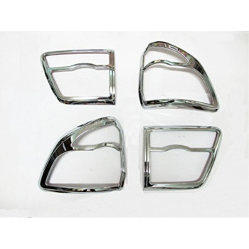 Chrome Tail Rear Light Lamp Back Cover Trim for New Toyota Fortuner 2011 2012