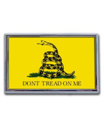 """Don't Tread on Me"" Gadsden Flag Chrome Automobile Emblem"