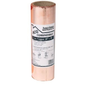 AMERIMAX HOME PRODUCTS  85067 10-Inch x 20-Feet Copper Flashing