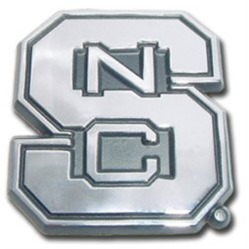 North Carolina State University Wolfpack NCAA College Chrome Plated Premium Metal Car Truck Motorcycle Emblem