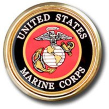 US Marines METAL Auto Emblem