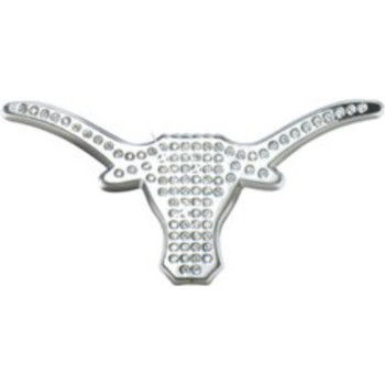 PREMIUM University of Texas Longhorn Crystal Chrome METAL Auto Emblem