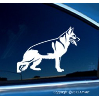 GERMAN SHEPHERD -Dog Vinyl Decal for Cars- Bumper Sticker - RIGHT.