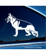 GERMAN SHEPHERD -Dog Vinyl Decal for Cars- Bumper Sticker -Fasing LEFT