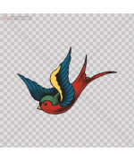 Stickers Swallow Size: 5 X 3.4 Inches Vinyl color print