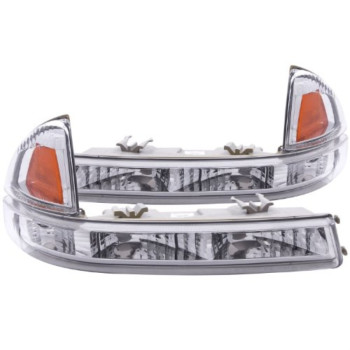 Anzo USA 511044 Euro DODGE DAKOTA 97-01 FRONT BUMPER EURO AMBER (PARKING LIGHTS) - (Sold in Pairs)