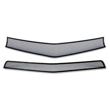 Fits 2010-2013 Chevy Camaro LT/LS V6 Black Stainless Steel Mesh Grille Grill Combo #C77661H