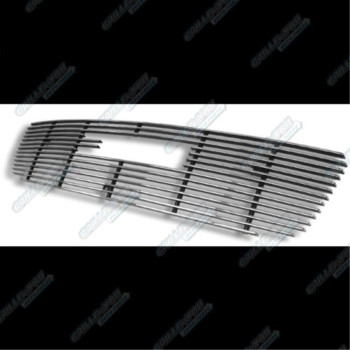 APS G65771A Polished Aluminum Billet Grille Bolt Over for select GMC Sierra 1500 Models