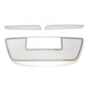 Fits 09-12 Hyundai Elantra Touring Stainless Steel Mesh Grille Grill Combo