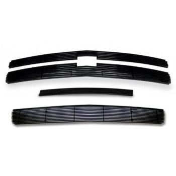 Fits 2007-2013 Chevy Silverado 1500 Black Billet Grille Grill Insert Combo # C61133H