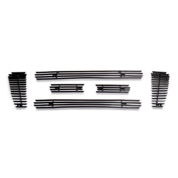 Fits 2004-2008 Ford F150 Bar Style Black Billet Grille Grill Insert # F65726H