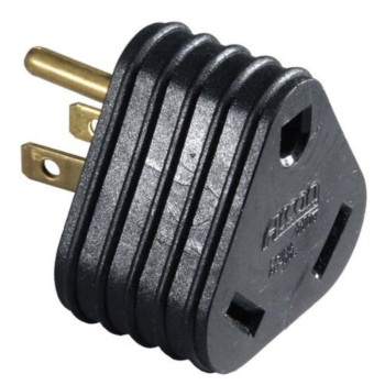 30A Female To 15A Male Adapter / RV Camper Motor Home Trailer Power Cord Plug