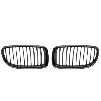 Matte Black Euro Front Center Kidney Grille Grilles Grill For 2008-2011 BMW E90 E91 3 Series 323i 328i 335i 335d LCI Facelift