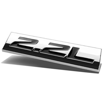 Chrome Finish Metal Emblem 2.2L Badge (Black Letter)