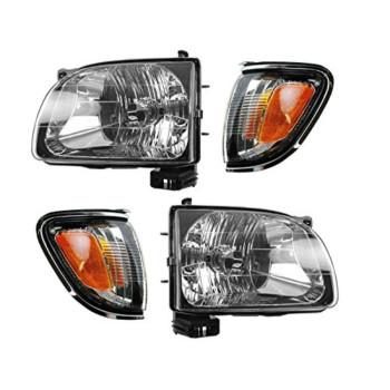 Toyota Tacoma 01 - 04 Head Light With Chrome Trim Corner Light Combination Set