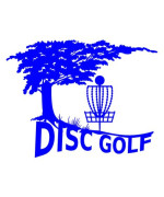 Nature Tree Disc Golf Decal with Mach 3 type Basket Detail - Blue