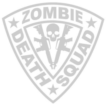 Zombie Death Squad Decal Twin AR15 - Silver