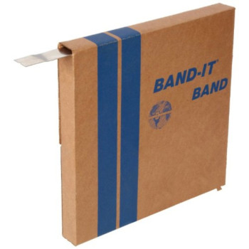 BAND-IT C20599 201 Stainless Steel Bright Annealed Finish Band, 5/8